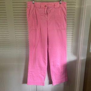 J. Crew Bright Pink Sz 6 City Pant